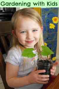 Gardening with kids- Great way to get them to eat their veggies! #gardening #kids