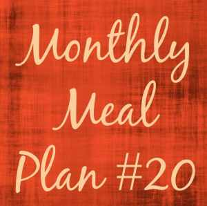 Monthly Meal Plan 20