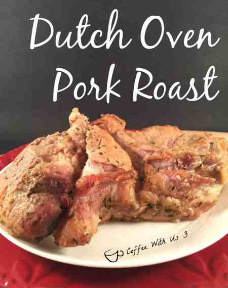 Dutch Oven Pork Roast tastes amazing and smells amazing as it's cooking.