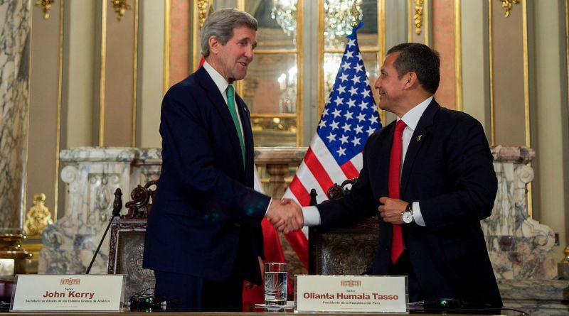 Secretary_Peruvian_President_Humala_Shake_Hands_Following_Meeting_Media_Statements_in_Lima_(15814527340)