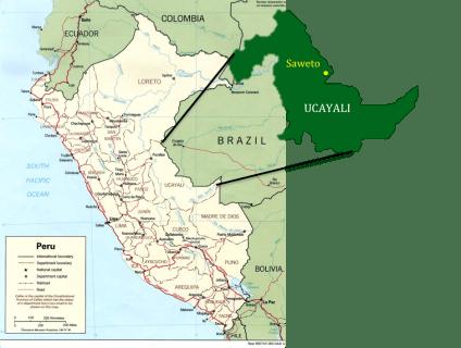 Saweto, la comunidad de Edwin Chota, ubicada en Ucayali, Perú.