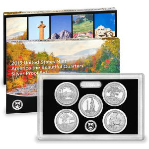 2013S 5-piece quarter Silver Proof set