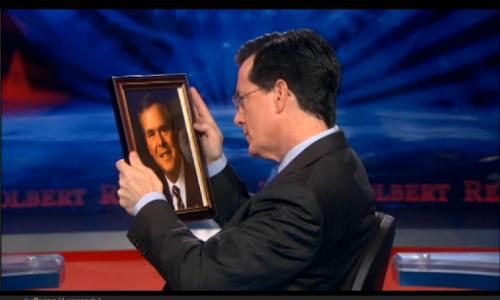 Stephen Colbert and Jeb Bush's portrait