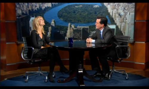 Stephen Colbert and Claire Danes
