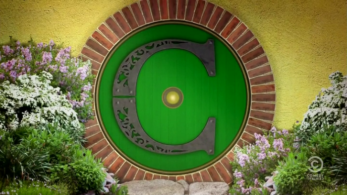 Colbert Report Hobbit Door