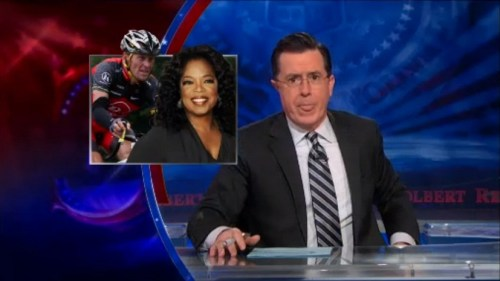 Stephen Colbert declares Lance Armstrong is banging Oprah