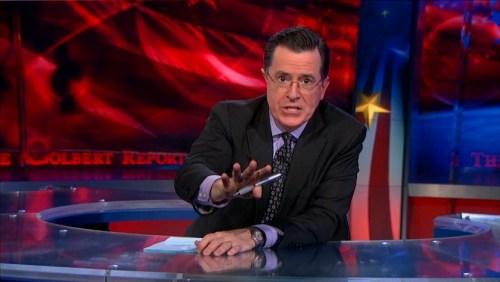 Stephen Colbert  Lavender Shirt