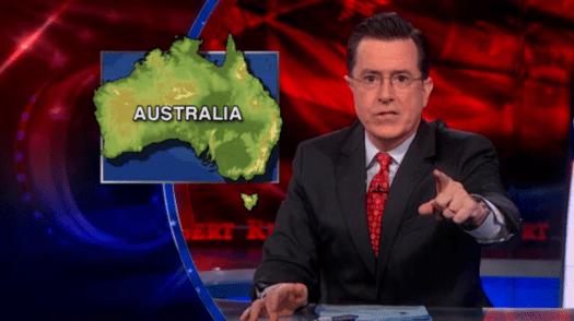 Stephen Colbert on Australian weather