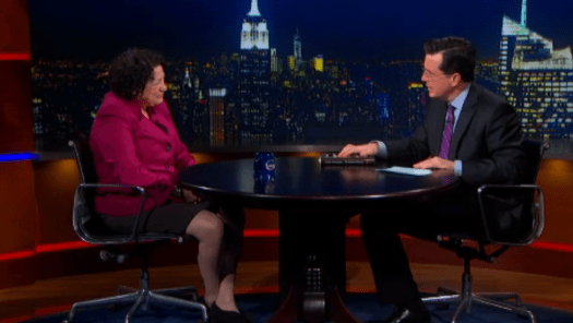 Sonia Sotomayor Colbert Report interview 2013