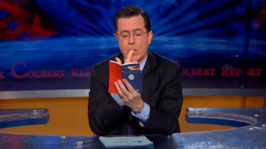 Stephen Colbert Reviewing the Second Amendment