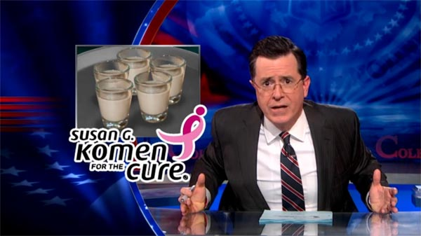 Stephen Colbert on the Susan G Komen Foundation