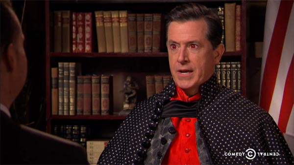 Stephen Colbert as a Vampire