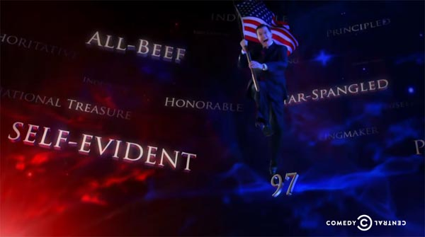 The Colbert Report opening credit countdown