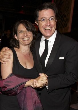 Michele Ganeless and Stephen Colbert