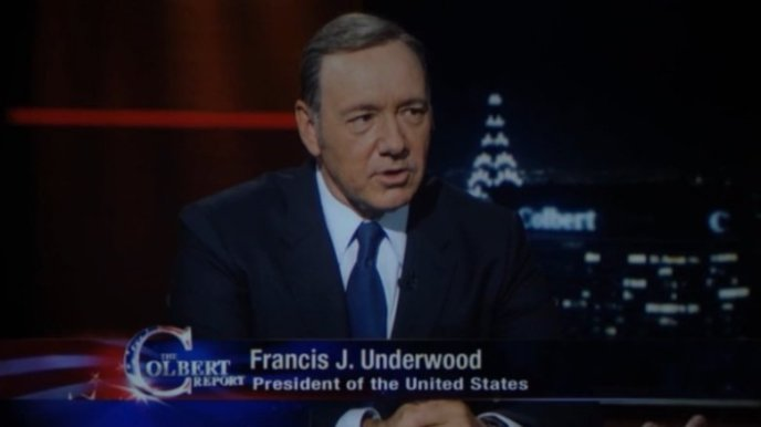 Frank Underwood on The Colbert Report
