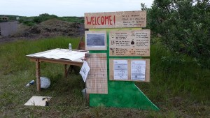 Welcome sign Permaculture Festival