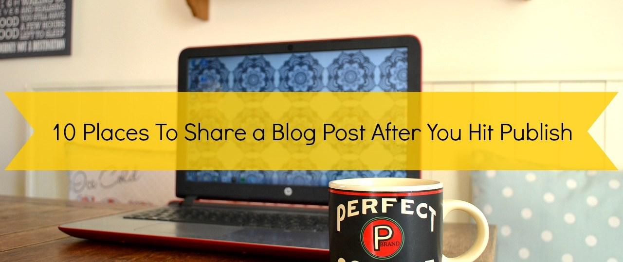 share a blog post