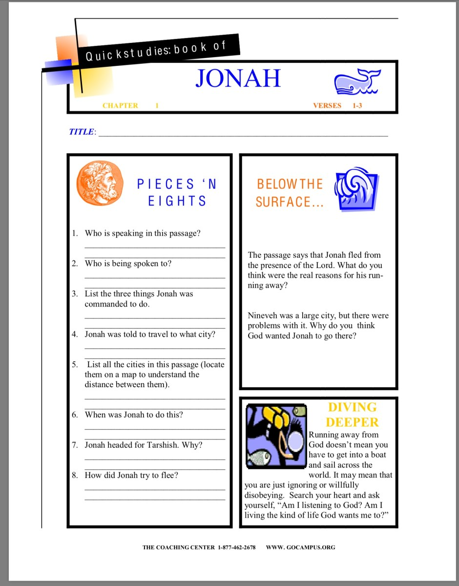 Jonah worksheet 1
