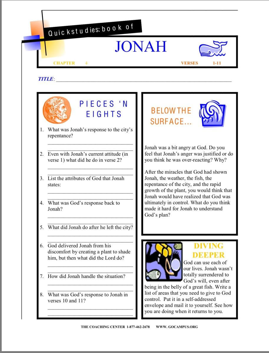 Jonah worksheet 7
