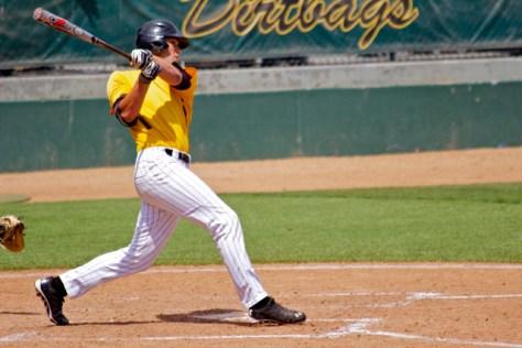 Cameron Pongs hit the ball hard. (Photo: Shotgun Spratling)
