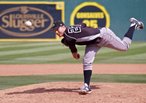Taylor Chris allowed one hit in three innings. (Photo: Shotgun Spratling)
