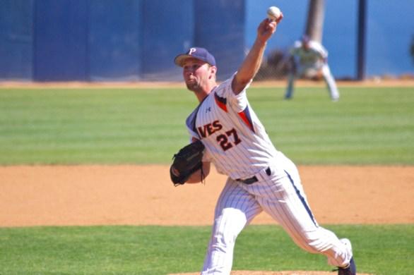 Aaron Brown pitched two innings. (Photo: Shotgun Spratling)