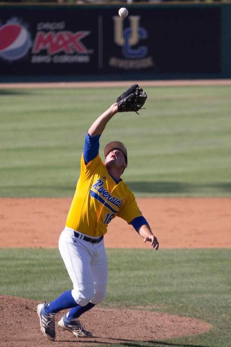 Cody Rogina catches a short popup. (Photo: Mark Alexander)