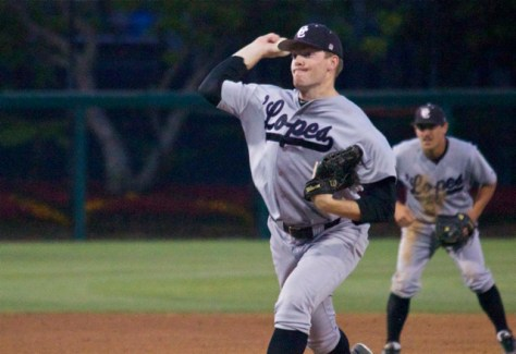 Malcolm Purdy pitched two innings for GCU. (Photo: Shotgun Spratling)
