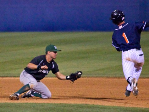 Taylor Bryant tries to avoid Stephen Ventimilia's tag. (Photo: Shotgun Spratling)