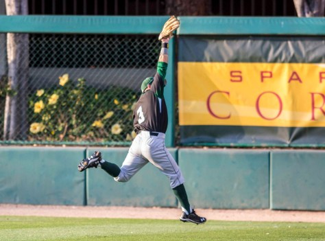 Kalai Hanawahine makes a leaping catch. (Photo: Mark Alexander)