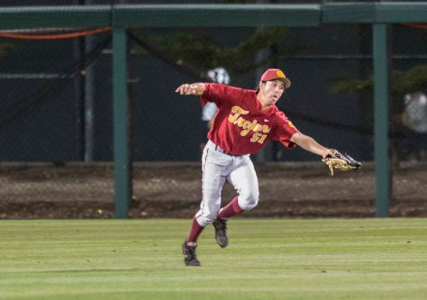 Garrett Stubbs stretches to make the catch. (Photo: Mark Alexander)