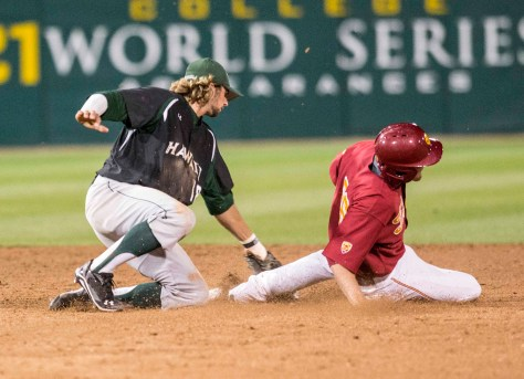 Austin Wobrock applies the tag. (Photo: Mark Alexander)