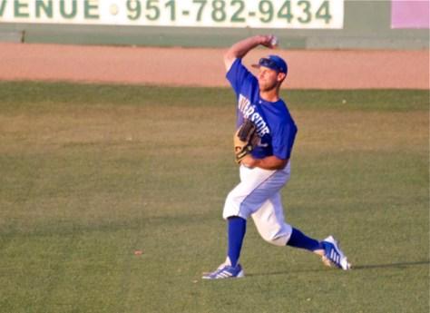 David Andriese fires a ball in. (Photo: Shotgun Spratling)
