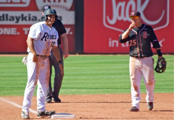 Third basemen Ty France and T.J. White share a laugh. (Photo: Shotgun Spratling)