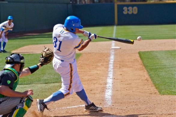 Darrell Miller Jr. smacks his first hit of the season. (Photo: Shotgun Spratling)