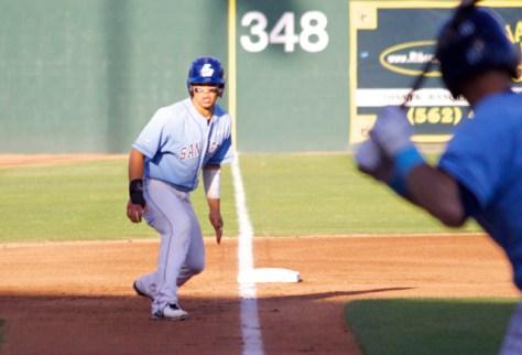 Connor Joe leads off third base. (Photo: Shotgun Spratling)
