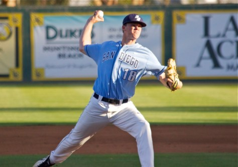 Starter Ryan Olson lasted only 1.1 innings. (Photo: Shotgun Spratling)