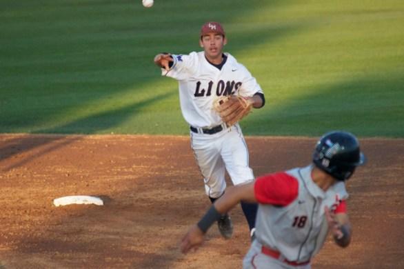 David Fletcher chases Tyler Adkison back. (Photo: Shotgun Spratling)
