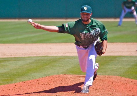 Bryan Granger picked up the win in relief. (Photo: Shotgun Spratling)
