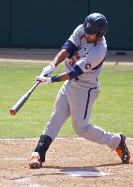 Austin Davidson had a big two-run double. (Photo: Shotgun Spratling)