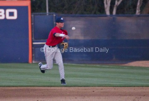Darian Ramage makes a play on a ball deflected by the 1B.