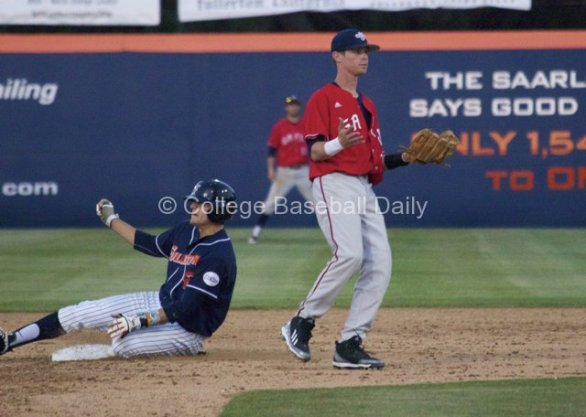 Clay Williamson swipes second and Darian Ramage doesn't know why there wasn't a throw.