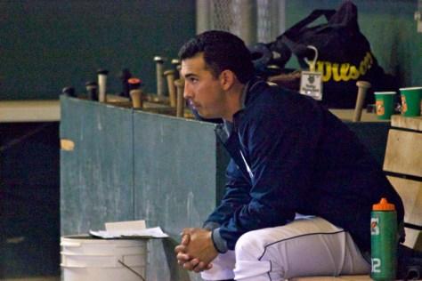 Andrew Morales watches the offense. (Photo: Shotgun Spratling)