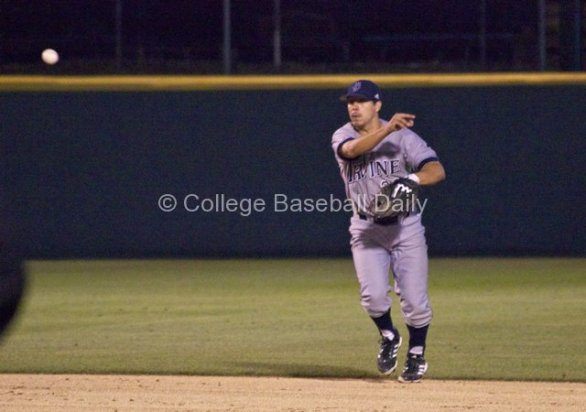 Chris Rabago makes a play up the middle.
