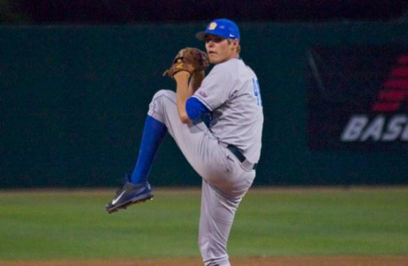 Connor Baits pitches. (Photo: Shotgun Spratling)