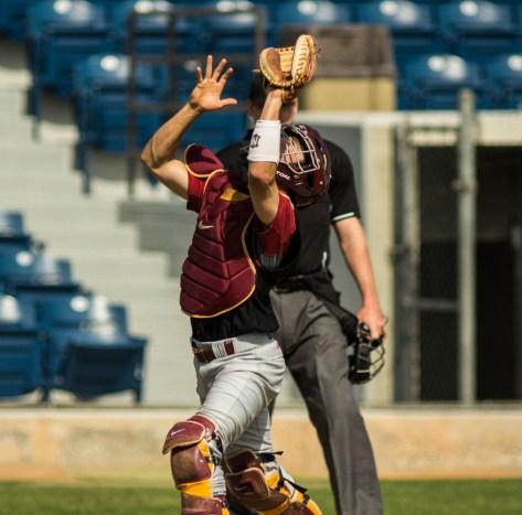 Garrett Stubbs goes after a pop up. (Photo: Mark Alexander)