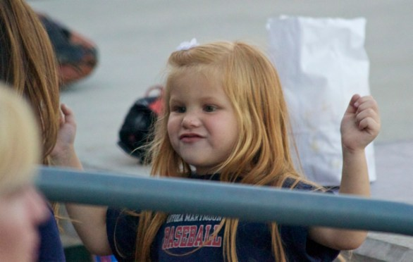A young LMU fan had a good time at Banner Island Ballpark. (Photo: Shotgun Spratling)