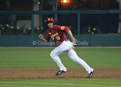 A.J. Ramirez takes off.