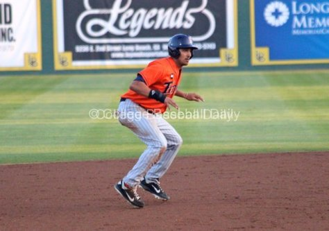 Carlos Lopez leads off second.