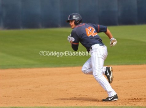 Clay Williamson takes off for second base.